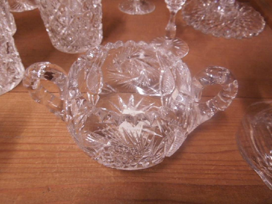 American Cut Glass Tableware - 5