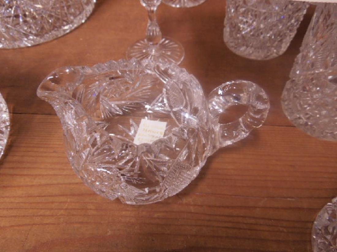 American Cut Glass Tableware - 6