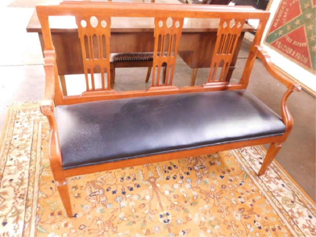 Federal Style Cherry Settee