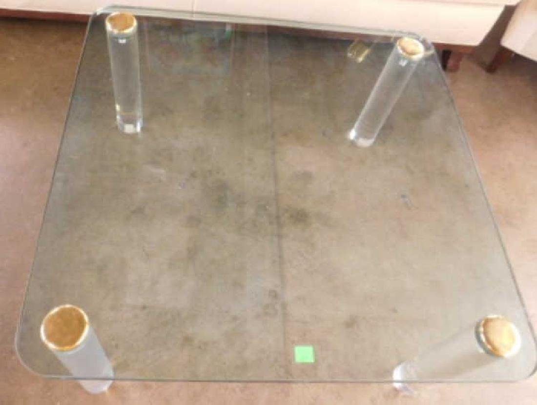 Pace Collection Glass Top Table