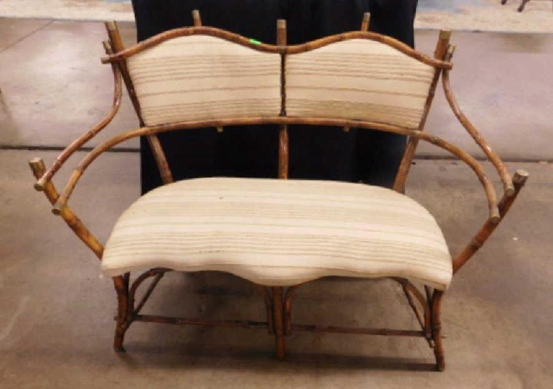 Antique Rustic Bentwood Love Seat