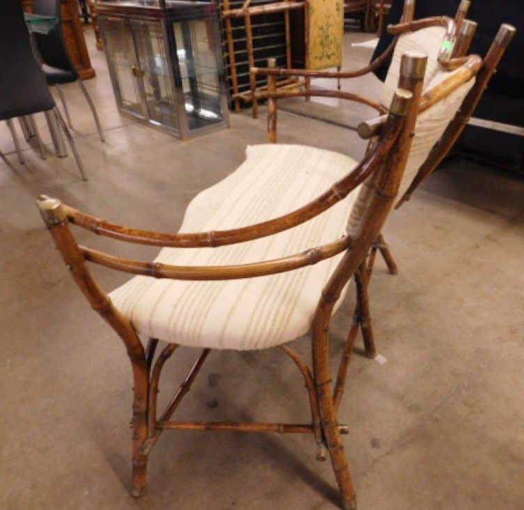 Antique Rustic Bentwood Love Seat - 3