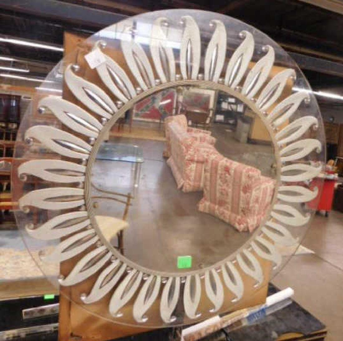 Hollywood Regency Style Glass Mirror