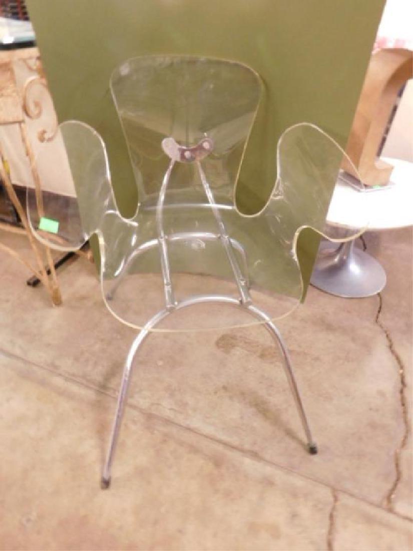 Mid Century Lucite & Chrome Chair