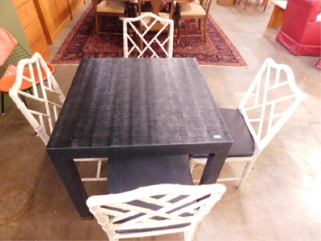 Karl Springer Style Card Table Set
