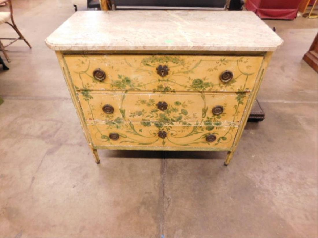 Regency Style Marble Top Dresser