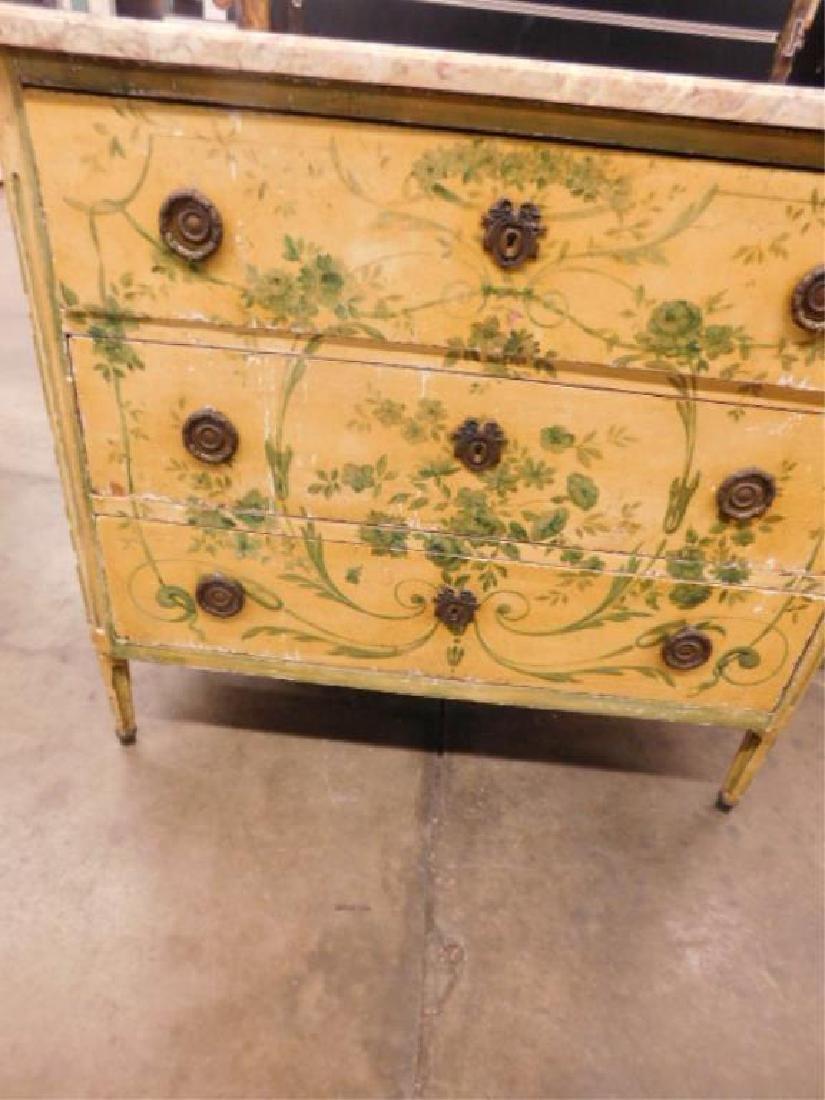 Regency Style Marble Top Dresser - 2