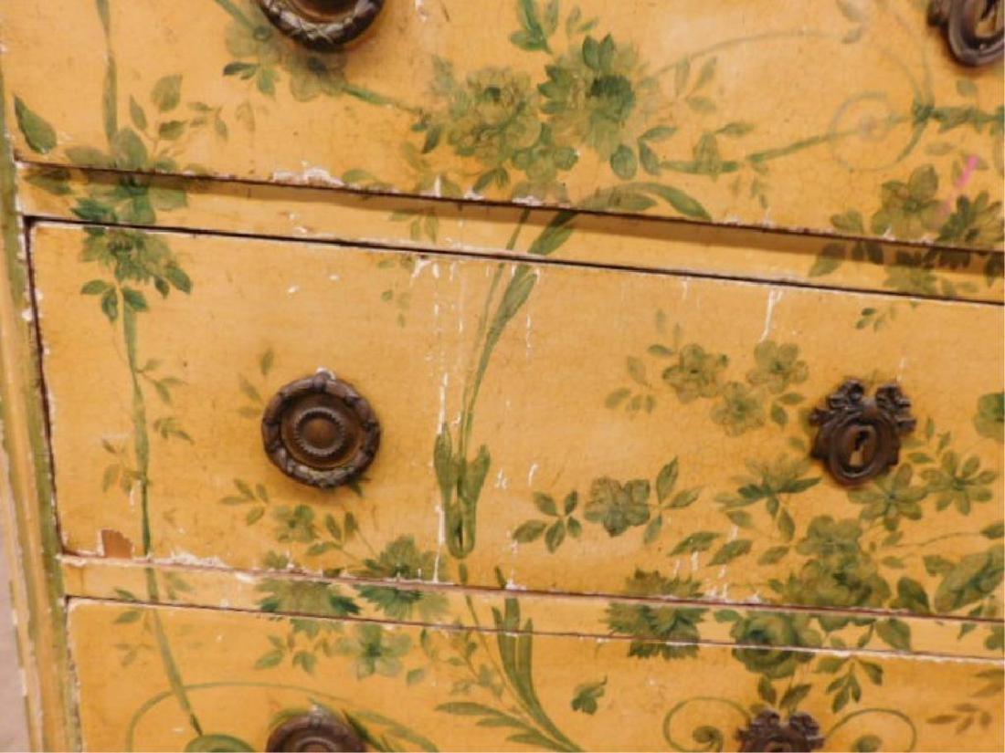 Regency Style Marble Top Dresser - 7