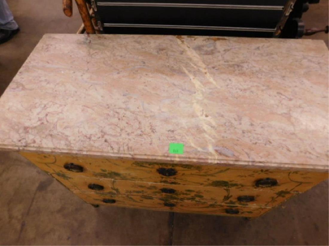 Regency Style Marble Top Dresser - 8