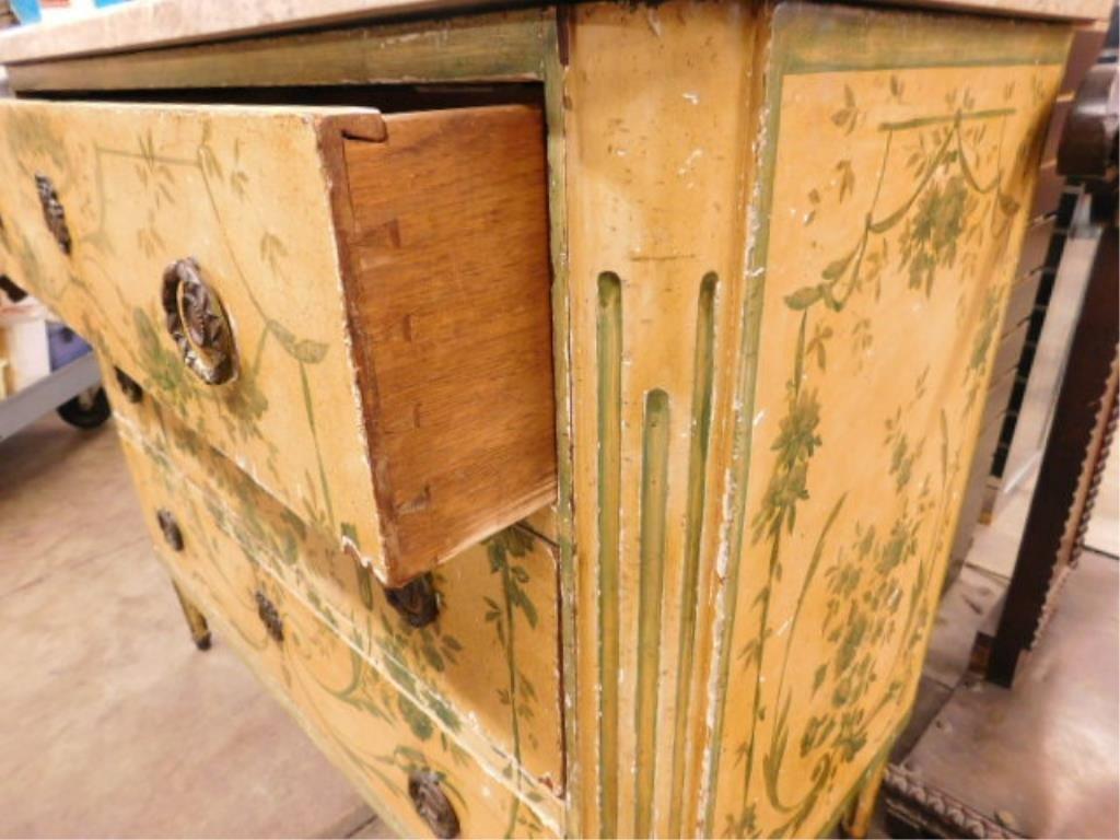 Regency Style Marble Top Dresser - 9