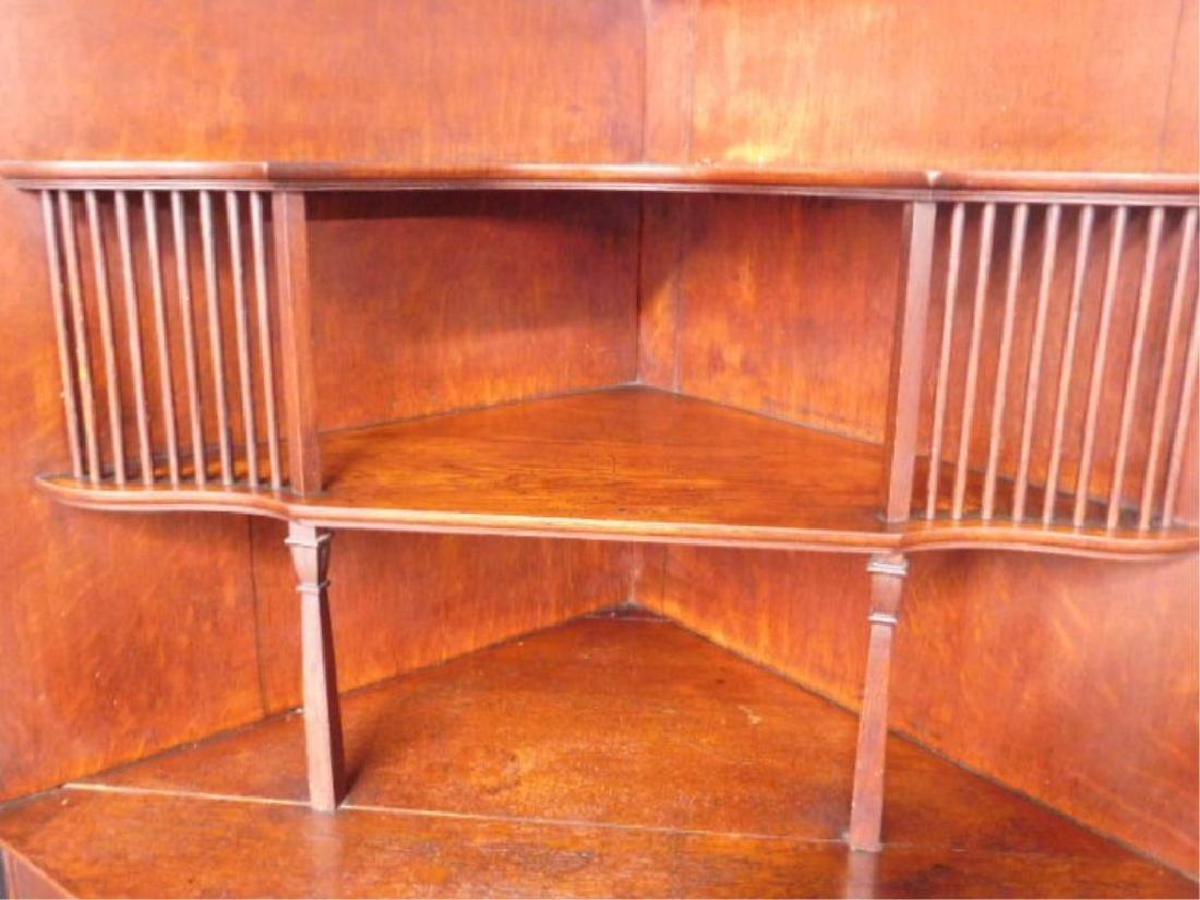Late Victorian Oak Corner Vitrine - 3