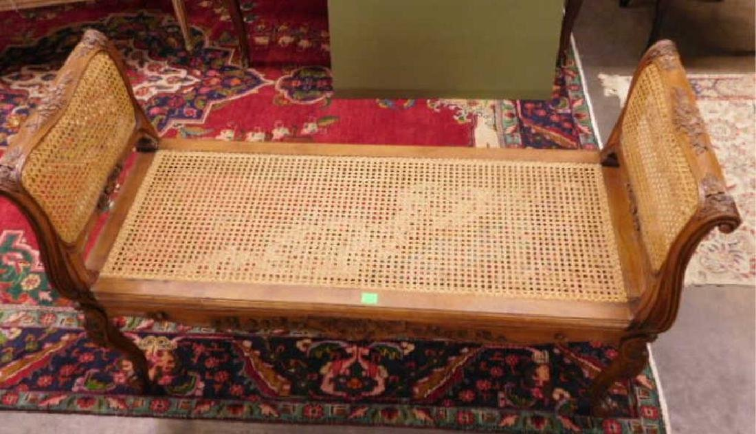 Louis XV Style Fruitwood Fireside Bench