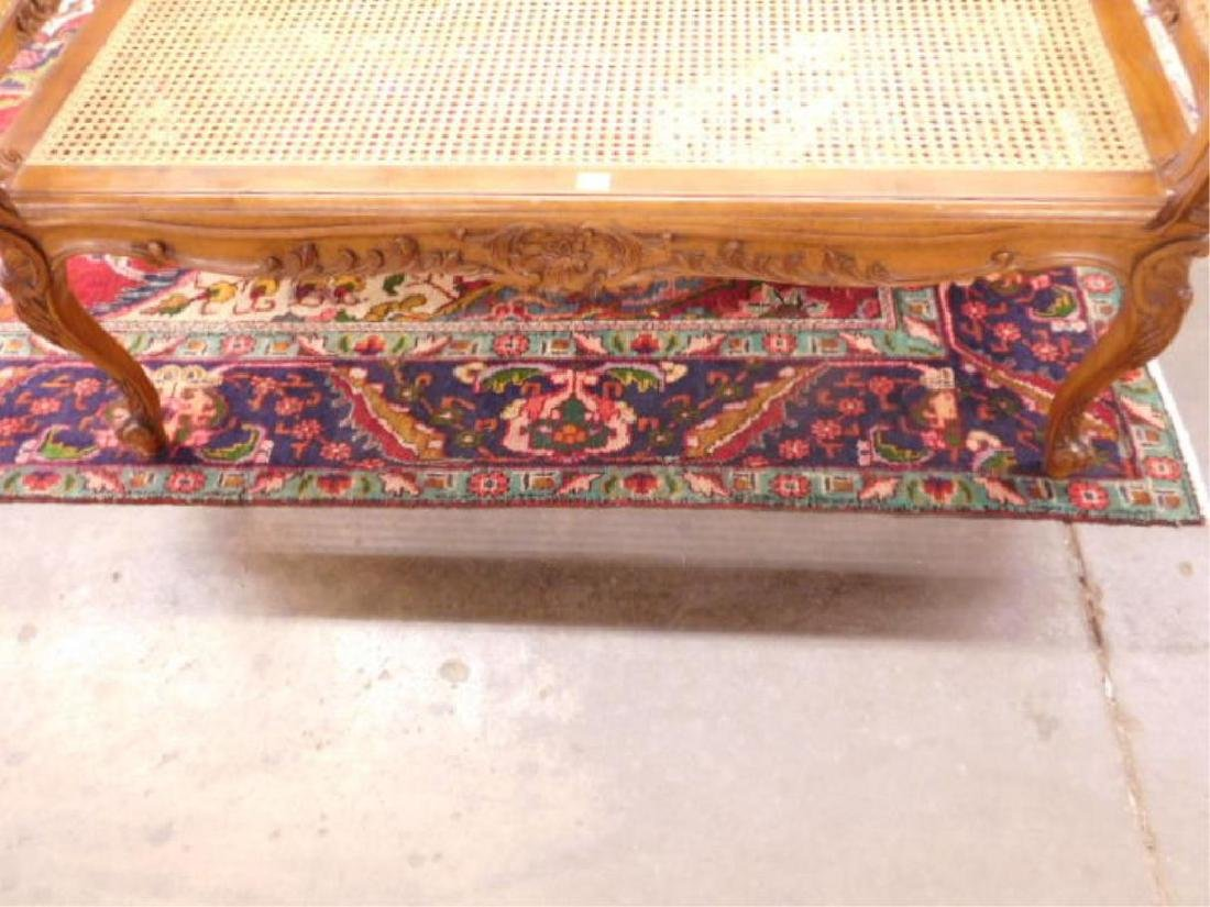 Louis XV Style Fruitwood Fireside Bench - 2