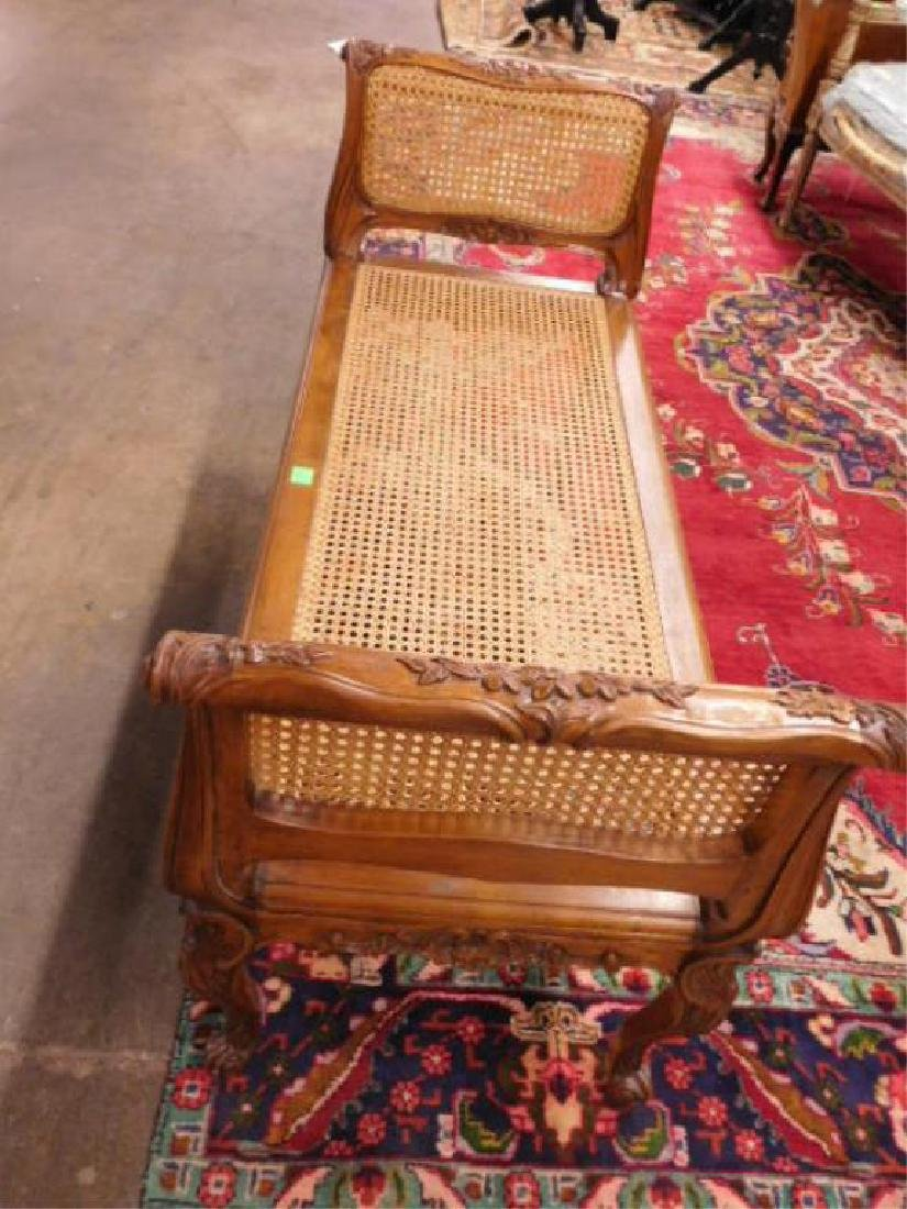 Louis XV Style Fruitwood Fireside Bench - 3