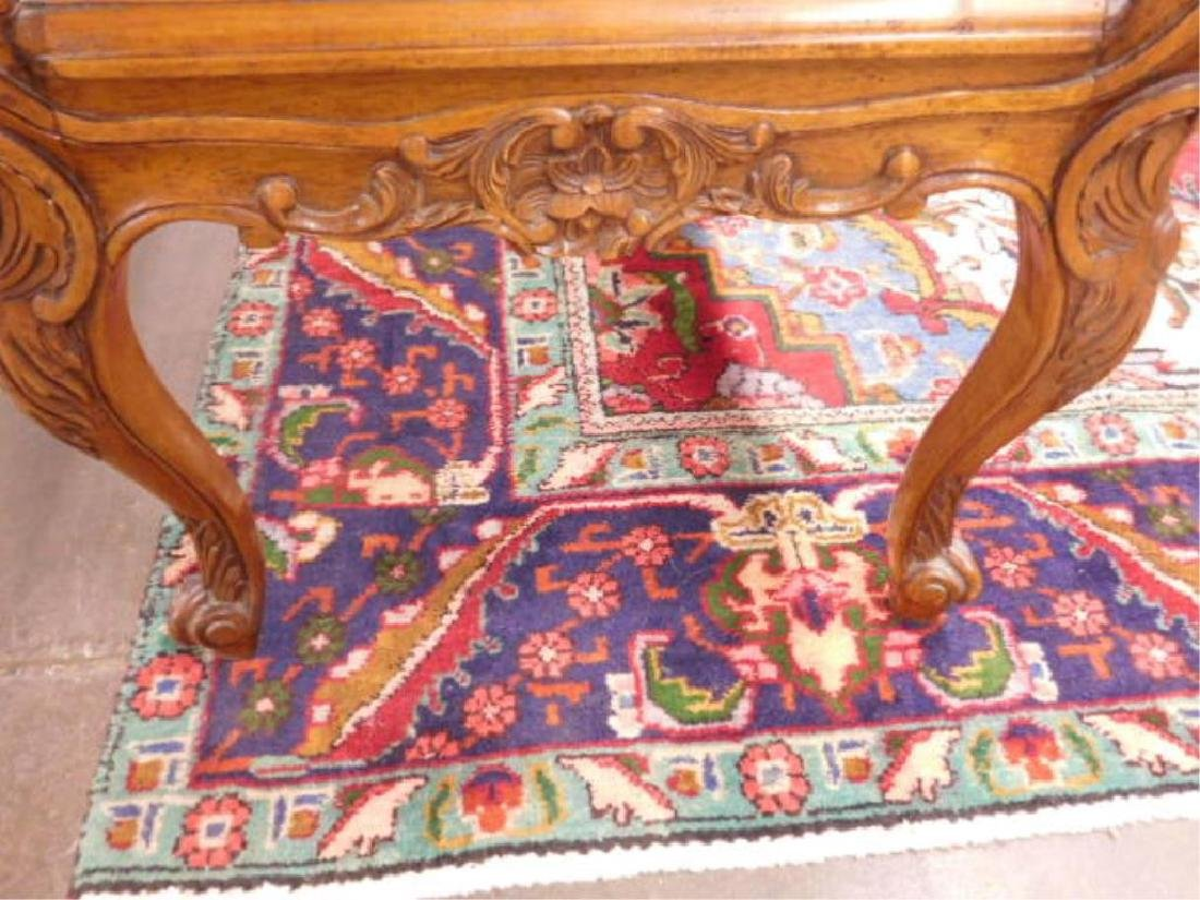 Louis XV Style Fruitwood Fireside Bench - 4