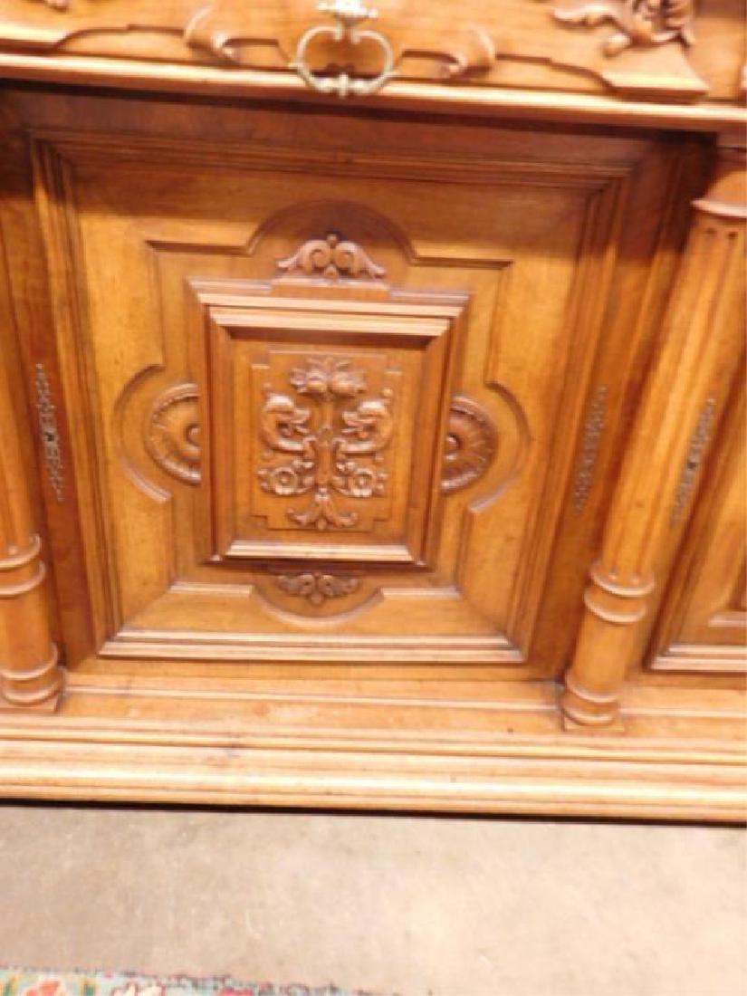 Renaissance Revival Walnut Sideboard - 2