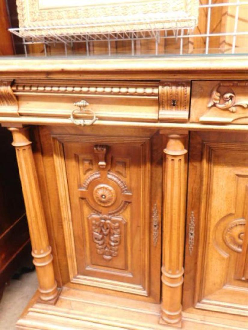 Renaissance Revival Walnut Sideboard - 3