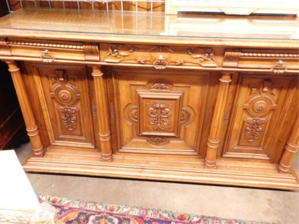 Renaissance Revival Walnut Sideboard - 8