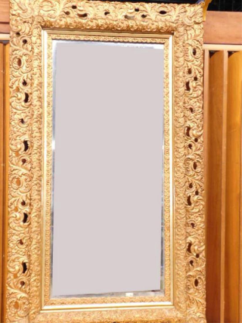 Elaborate Gilt Frame Wall Mirror