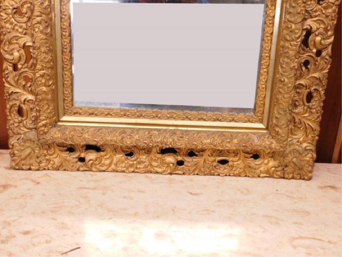Elaborate Gilt Frame Wall Mirror - 2