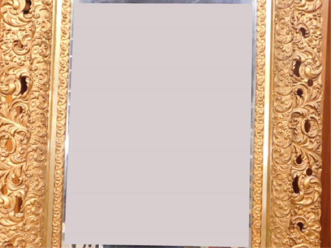 Elaborate Gilt Frame Wall Mirror - 3