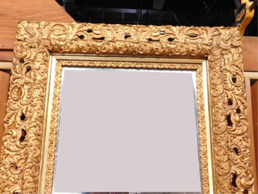 Elaborate Gilt Frame Wall Mirror - 4