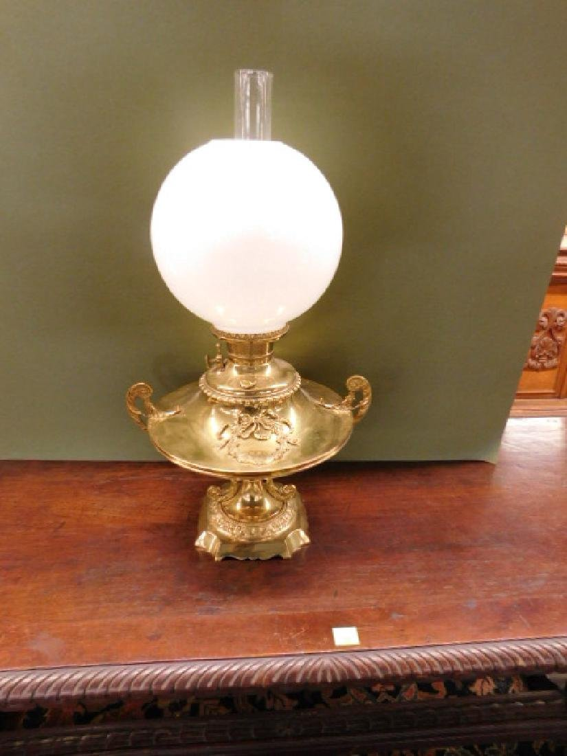 Victorian Brass Fluid Lamp