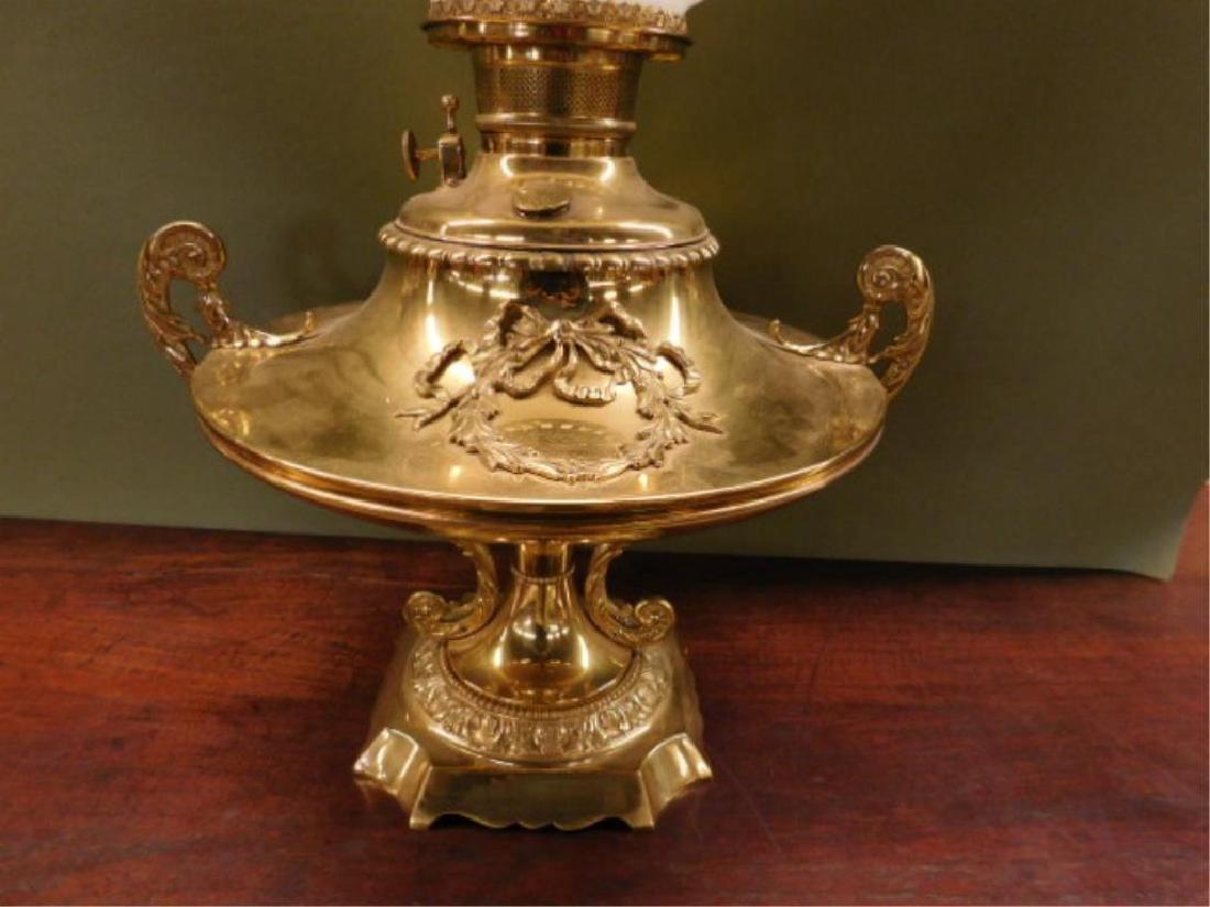Victorian Brass Fluid Lamp - 2