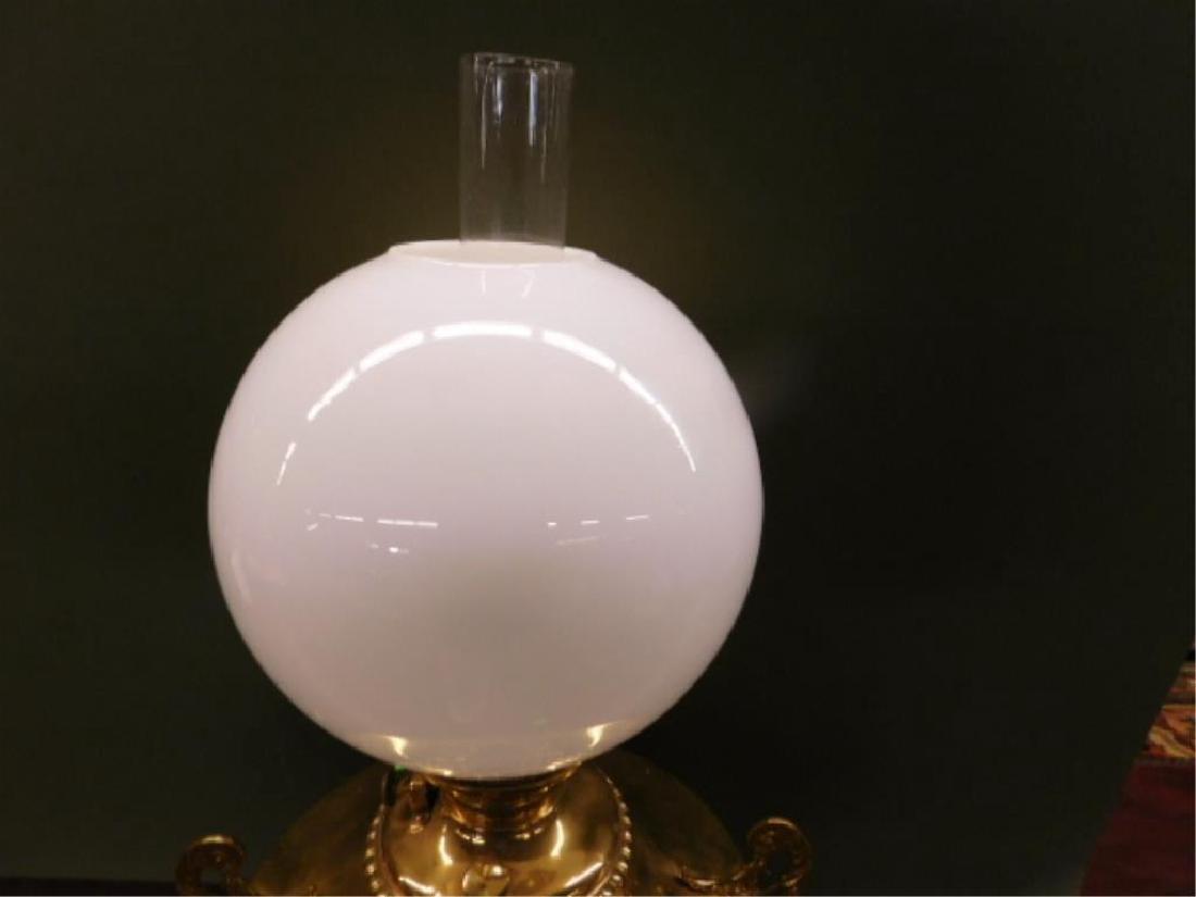 Victorian Brass Fluid Lamp - 3