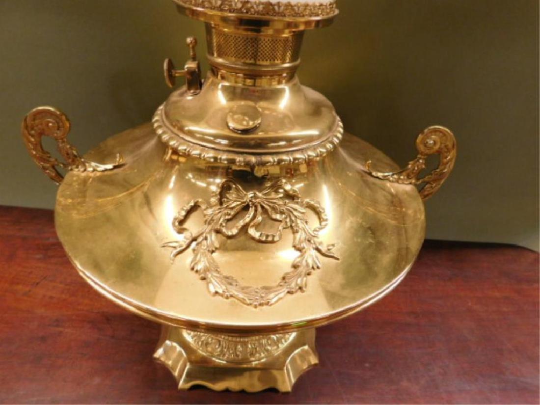 Victorian Brass Fluid Lamp - 4