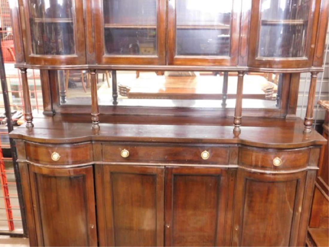 Mahogany & Glass Paneled Buffet - 3
