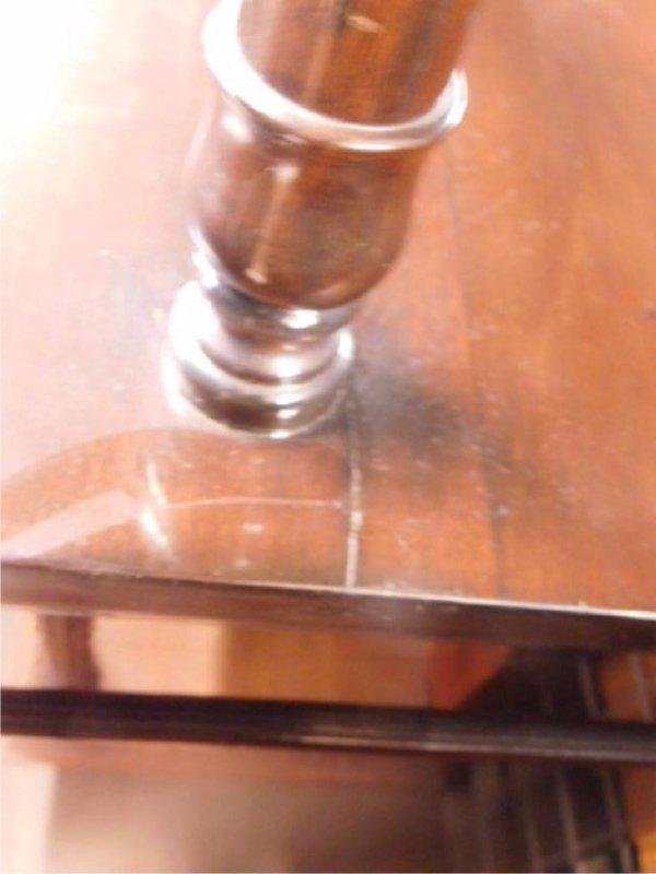 Mahogany & Glass Paneled Buffet - 5
