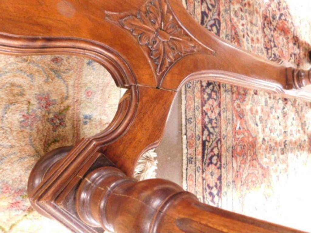 Renaissance Style Mixed Wood Library Table - 10