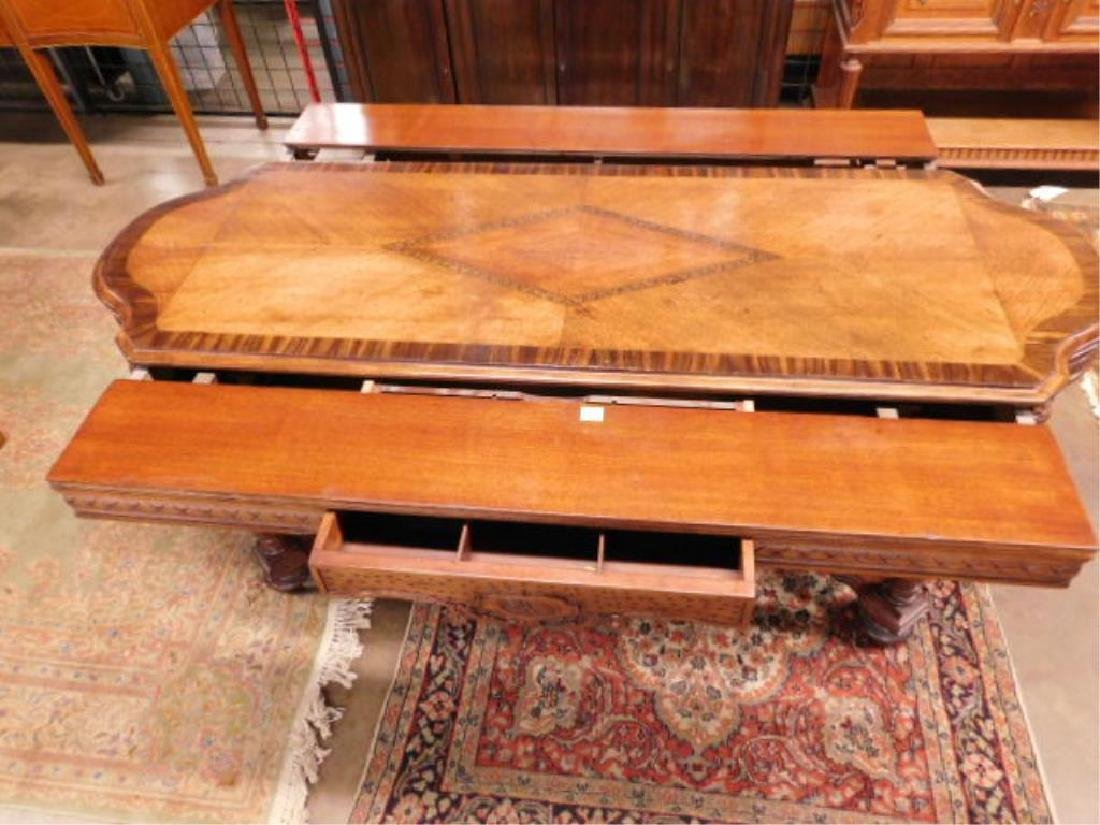 Renaissance Style Mixed Wood Library Table - 2