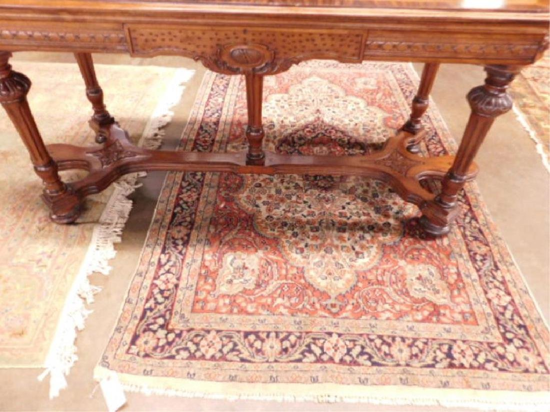 Renaissance Style Mixed Wood Library Table - 4