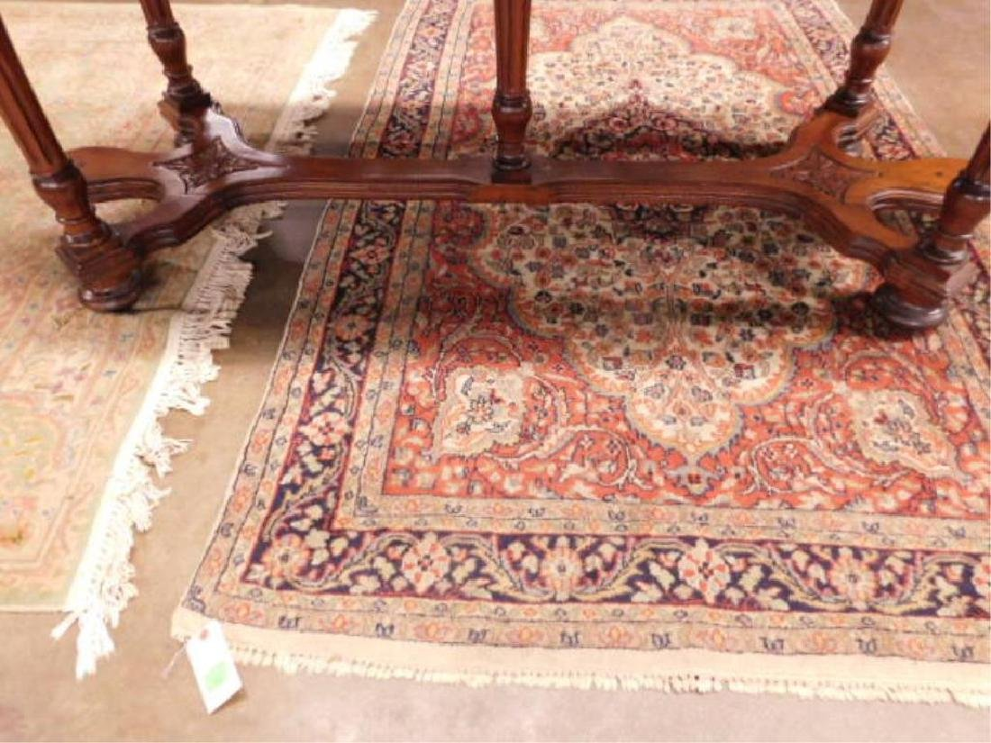 Renaissance Style Mixed Wood Library Table - 5