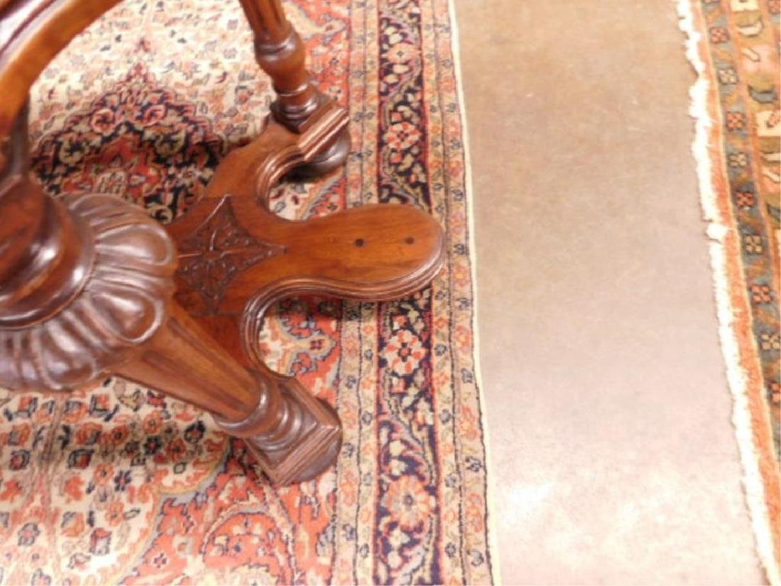 Renaissance Style Mixed Wood Library Table - 6