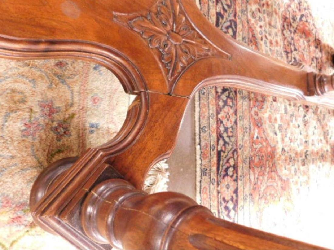 Renaissance Style Mixed Wood Library Table - 8