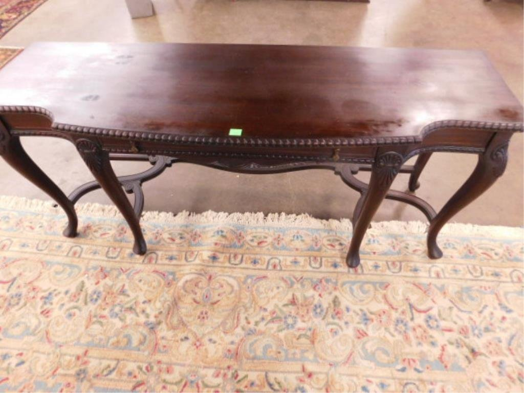 Queen Anne Revival Style Console Table