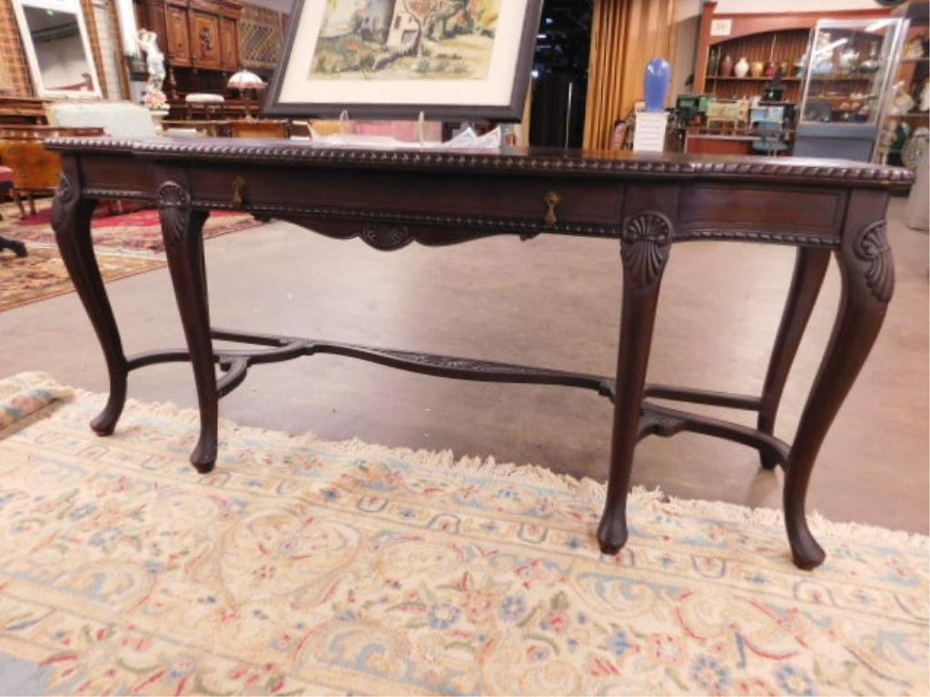 Queen Anne Revival Style Console Table - 8