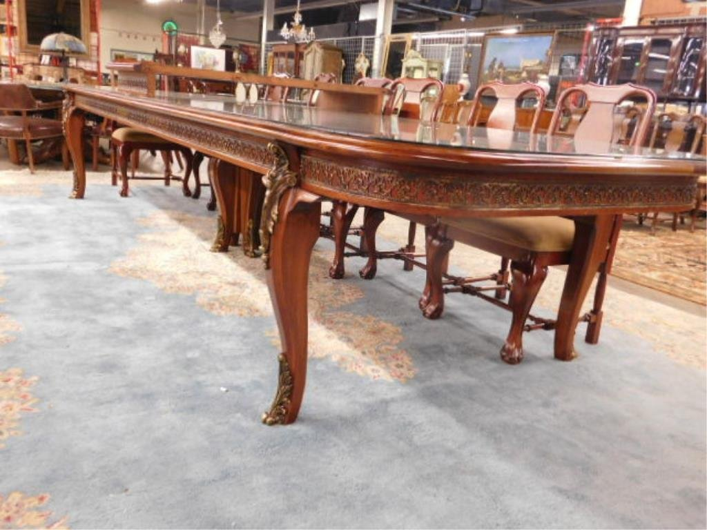 Louis XV Style Mahogany Banquet Table