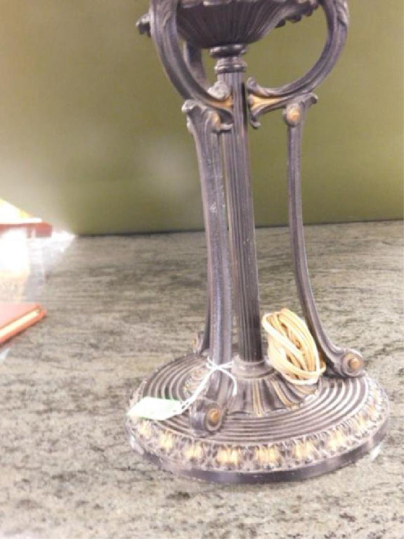 Reverse Painted Glass Shade Table Lamp - 4