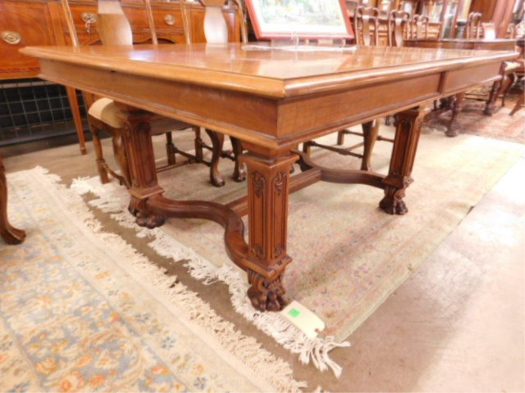 Victorian Walnut Dining Room Table