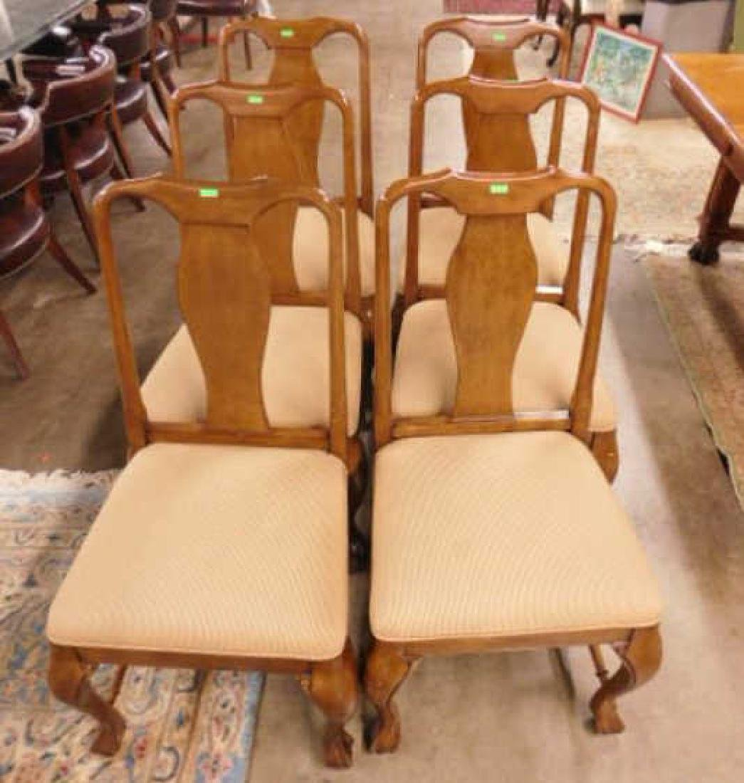 Six Queen Anne Style Mahogany Chairs