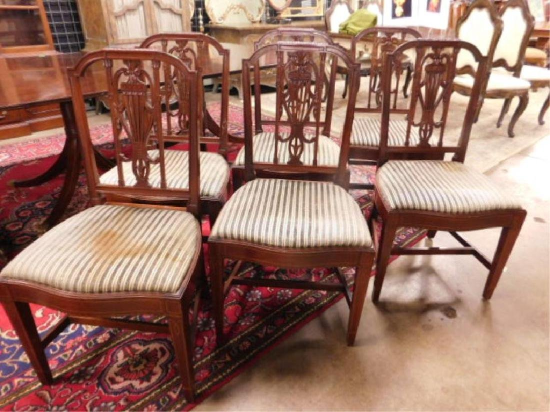 Six Hepplewhite Style Dining Room Chairs - 5