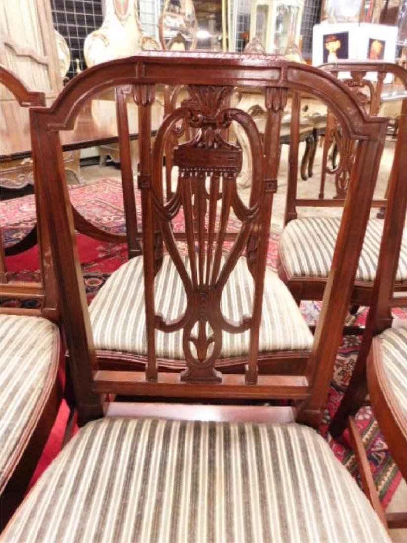 Six Hepplewhite Style Dining Room Chairs - 6
