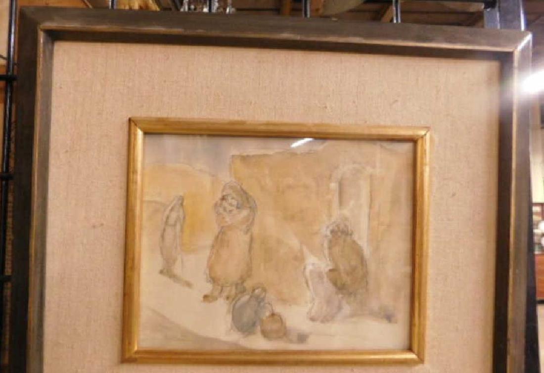 Jakob Steinhardt Signed Watercolor