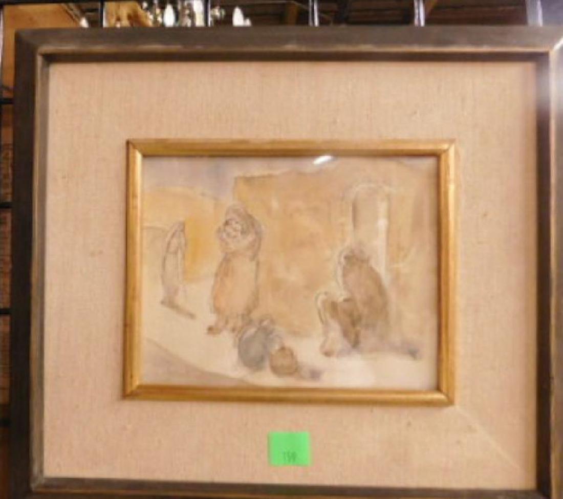 Jakob Steinhardt Signed Watercolor - 3