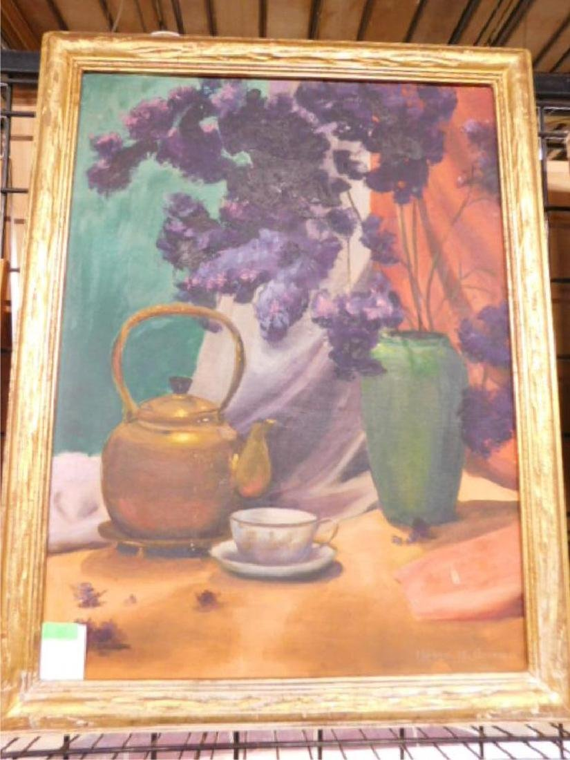 Helen H. Green Signed Oil Painting