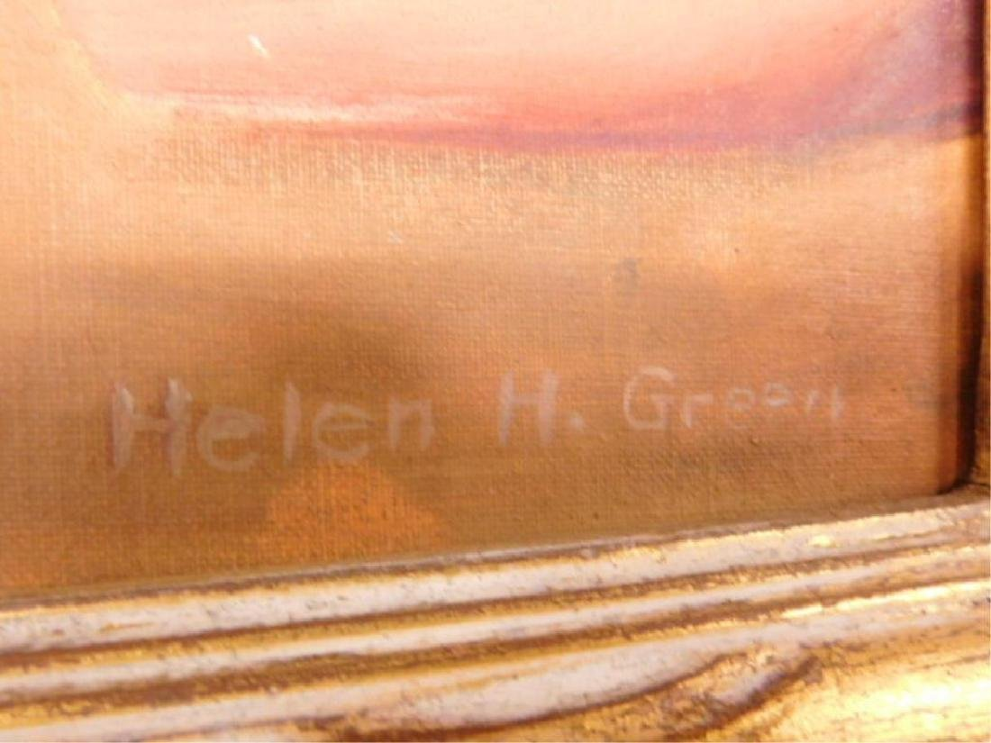 Helen H. Green Signed Oil Painting - 2
